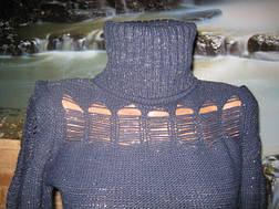 Нарядный свитер темно-синий, фото 2