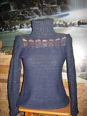 Нарядный свитер темно-синий, фото 3