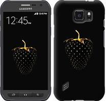"""Чехол на Samsung Galaxy S6 active G890 Черная клубника """"3585u-331-481"""""""