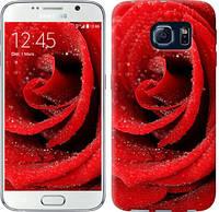 "Чехол на Samsung Galaxy S6 G920 Красная роза ""529c-80-481"""