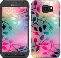 """Чехол на Samsung Galaxy S6 active G890 Листья """"2235u-331-481"""""""
