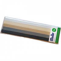 Набор стержней из PLA-пластика для проф. исп. с 3Doodler Create - ХАКИ (25 шт, метал/глянец) PL-MIX7
