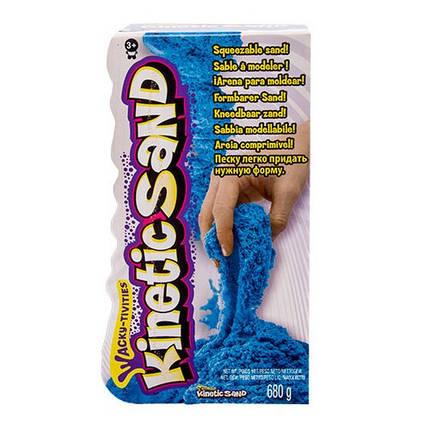 Песок для детского творчества - KINETIC SAND COLOR голубой 680 г 71409B, фото 2