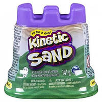 Песок для детского творчества - KINETIC SAND МИНИ КРЕПОСТЬ (зеленый,141 г) 71419G