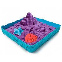 Набор песка для детского творчества - KINETIC SAND ЗАМОК ИЗ ПЕСКА (фиолетовый, 454 г, формочки, лоток) 71402P