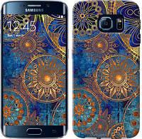"Чехол на Samsung Galaxy S6 Edge G925F Золотой узор ""678c-83-481"""