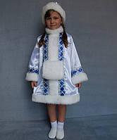 Детский новогодний костюм для девочки Снегурочка с муфтой разных цветов от 3 до 7 лет