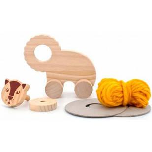 Помпон Лев, набор для творчества, Мир деревянных игрушек Д396