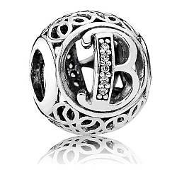 Подвеска-шарм буква B в стиле Pandora