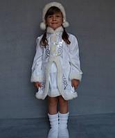 Детский новогодний костюм для девочки Снегурочка котоновый разных цветов от 3 до 7 лет