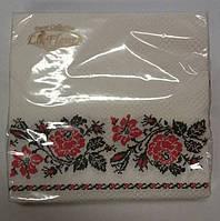 Салфетка для декупажа (ЗЗхЗЗ, 20шт)  La Fleur Класическая вышивка (1 пач)