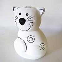 Котенок, копилка, роспись по керамике, Идейка