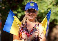 Флаг Украины 30х20 см на трубочке