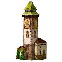 Игровой набор Башня с часами и герои, Средневековый город, Сборная модель из картона, Умная бумага