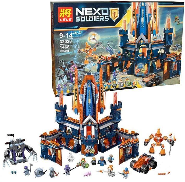 Конструктор Lele 32028 Нексо Найтс Королевский замок Найтон 1468 дет