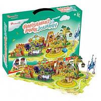Трехмерная головоломка-конструктор Поездка в парк развлечений, CubicFun