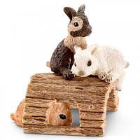Играющие крольчата - игрушка-фигурка, Schleich