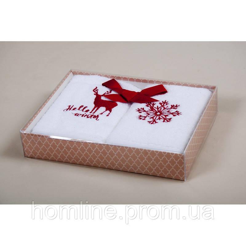 Набор кухонных полотенец Barine Winter красный 30*50