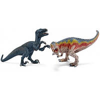 Тиранозавр и Велоцираптор, набор игрушек-фигурок, Schleich