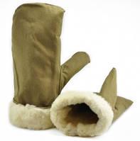 Рукавицы варежки армейские овчина белый мех (СССР)