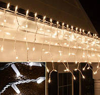 Гирлянда уличная Бахрома 3 метра 0,5 метра на белом проводе тепло белый цвет