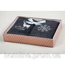 Набор кухонных полотенец Barine Winter серый 30*50