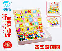 Деревянная игра Мозаика математика-цифры С 23127