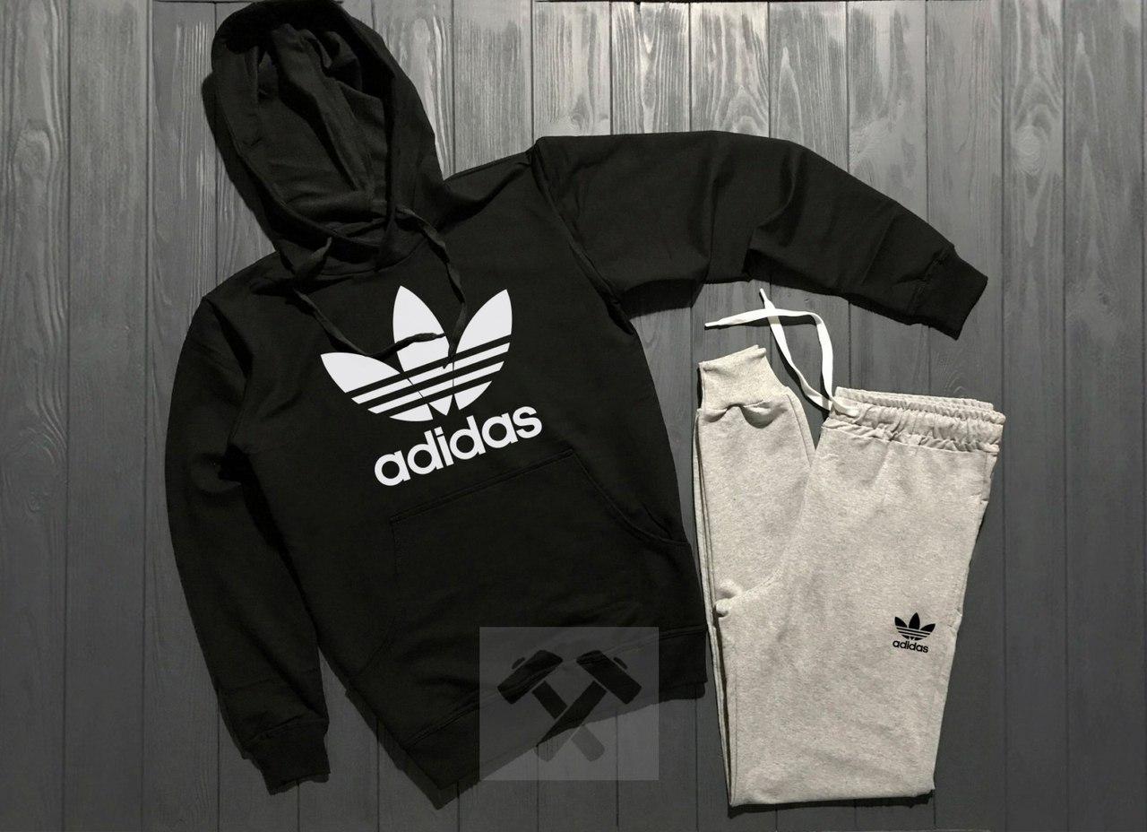 Весенний состюм спортивный Adidas с капюшоном топ реплика