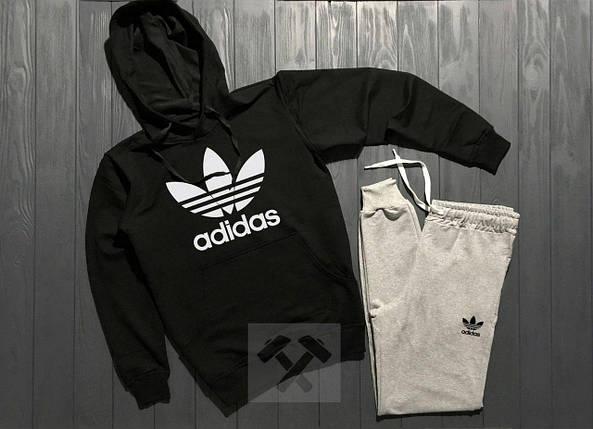 Весенний состюм спортивный Adidas с капюшоном топ реплика, фото 2