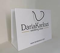 Бумажный пакет ламинированный 430*150*330 мм с ручками