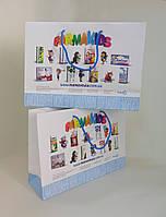 Бумажные пакеты ламинированные 320*100*230 мм с ручками, фото 1