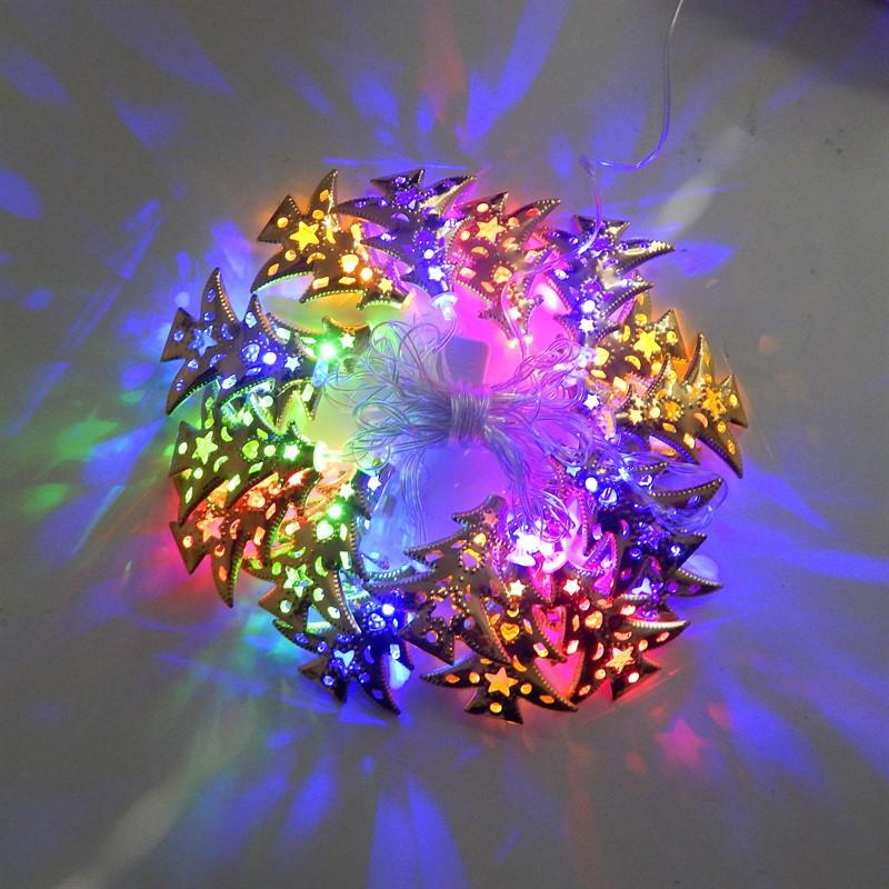 Новогодняя гирлянда с фигурками, елка цвет мульти 20LED