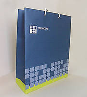 Бумажный пакет ламинированный 300*100*400 мм с ручками