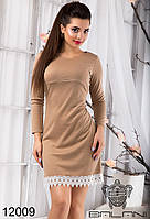 Женское, модное, стильное, короткое Платье от производителя с  кружевом  -  12009 р-р S   M   L