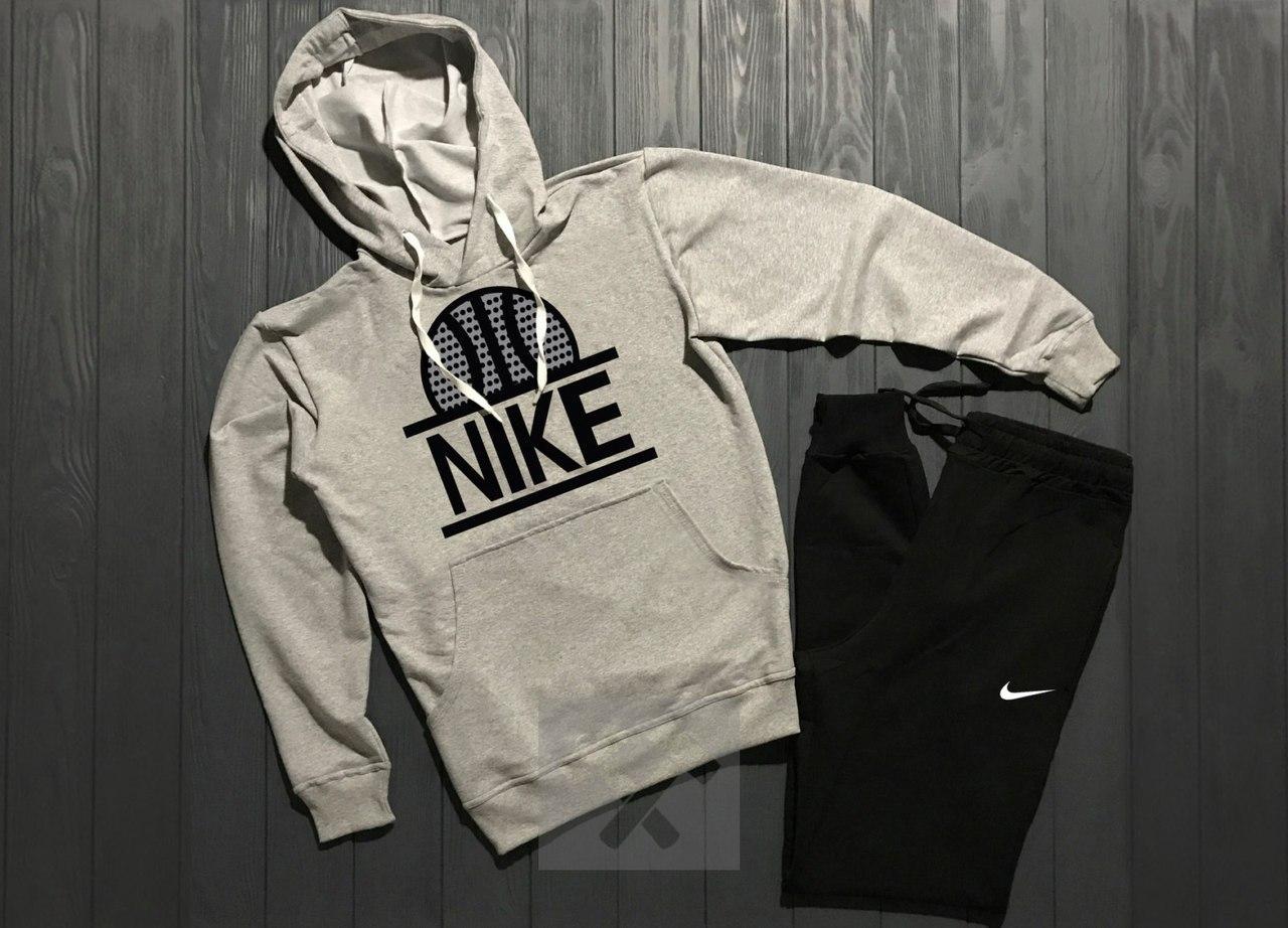 Весенний костюм спортивный Nike с капюшоном топ реплика