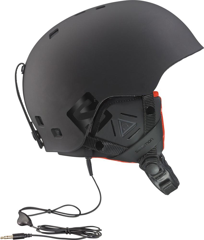 Горнолыжный шлем Salomon BRIGADE AUDIO black Mat/Orange (MD)