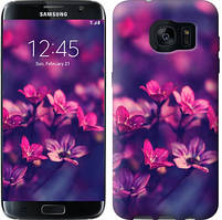 """Чехол на Samsung Galaxy S7 Edge G935F Пурпурные цветы """"2719c-257-481"""""""