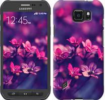 "Чехол на Samsung Galaxy S6 active G890 Пурпурные цветы ""2719u-331-481"""