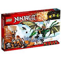 Лего ниндзяго Оригинал Lego Ninjago Зелёный энерджи дракон Ллойда  Конструктор LEGO Ninjago 70593