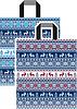 Новогодний пакет петля 40x43 см (уп-25 шт)