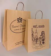 Бумажный пакет из крафта 320*150*400 мм коричневый с ручкой без печати., фото 1