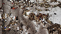 Паетка чешуя бежево-золотая