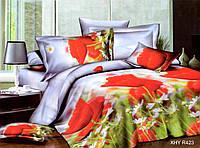 Двуспальный набор постельного белья 180*220 из Полиэстера №205 Черешенка™