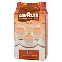 Кофе Lavazza Crema Aroma в зернах 1 кг, Лавацца Крем Арома Коричневая уп. зерно 1 кг.