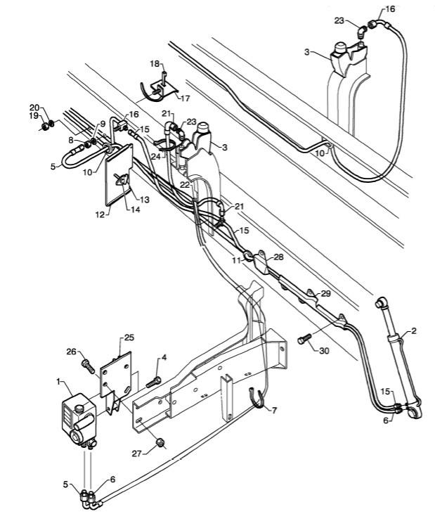 1851227 шланг подъема кабины