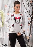 Женский модный стильный свитшот  -  10939 р-р S   M женская одежда  в интернет магазине. Украина