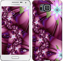 "Чехол на Samsung Galaxy Alpha G850F Цветочная мозаика ""1961c-65-481"""