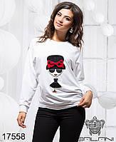 Женский молодежный элегантный свитшот - 17558 р-р S M  L женская одежда  от производителя . Украина
