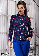 Женская принтованная  блуза  -  12927 р-р S   M   L   XL женская одежда от производителя , Украина