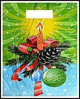 Новогодний пакет банан 44 х 35 см / уп-100шт(LD)